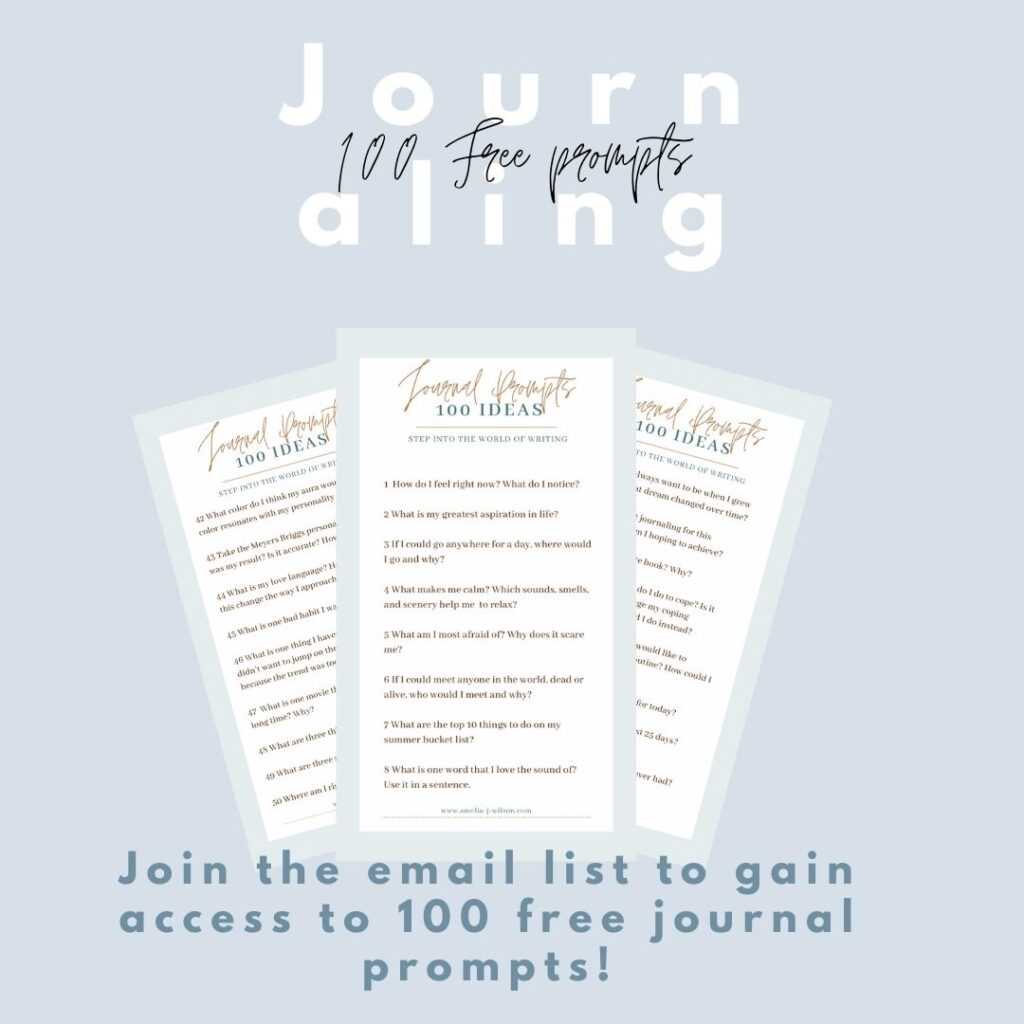Journaling Prompts – Amelia J. Wilson